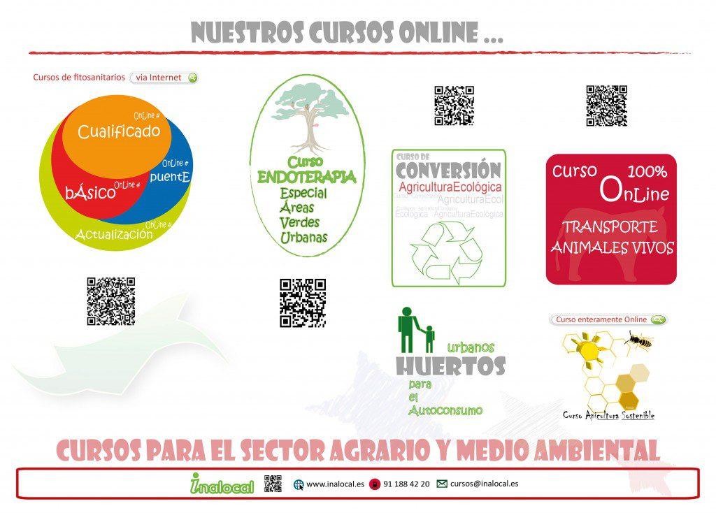 Cursos Online fitositarios Incorporación a la empresa agraria para jovenes agricultores ENDOTERAPIA conversion ecologica TRANSPORTE ANIMALES VIVOS apicultura para subvenciones HUERTOS URBANOS en Comunidad de Madrid Castilla La Mancha Castilla y León INALOCAL