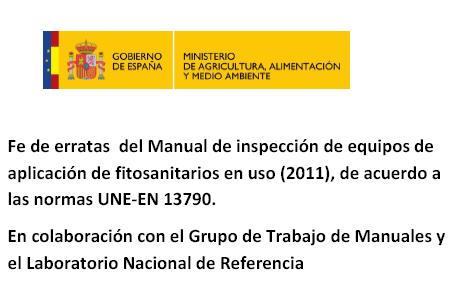 FE DE ERRATAS DEL MANUAL DE INSPECCION ITEAF