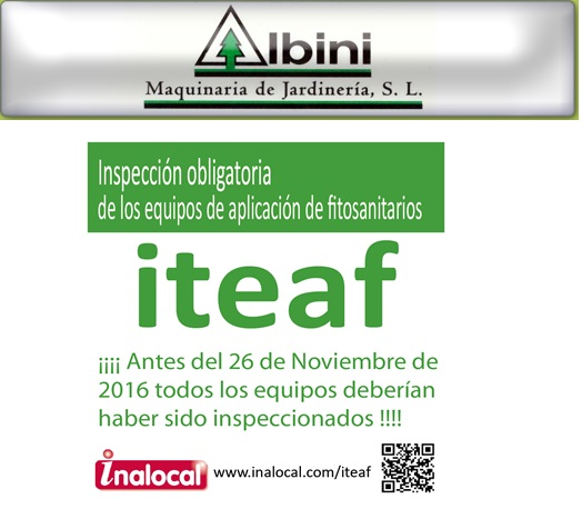 ALBINI reparación de equipos de apliación de fitosanitarios en Madrid y Comunidad de Madrid